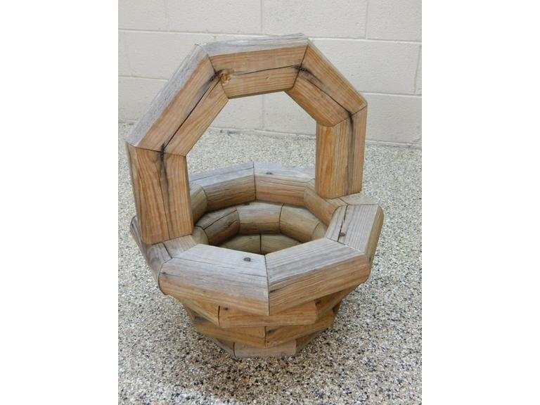 Hand Crafted Wooden Yard Basket
