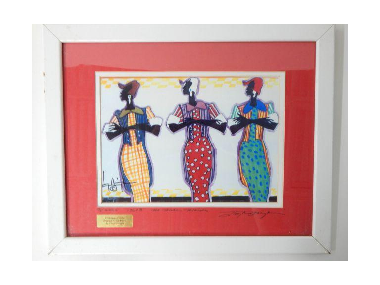 Lloyd Wright Sighed African Art Print