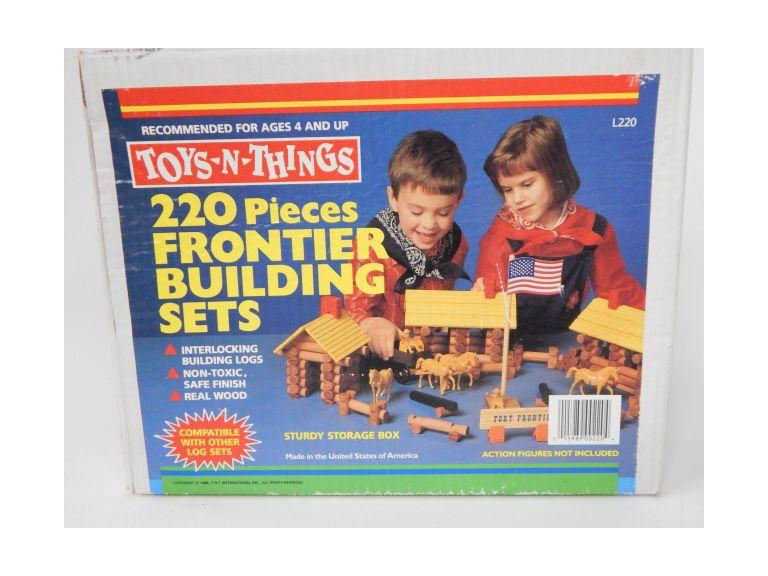 Wooden Log Building Play Set