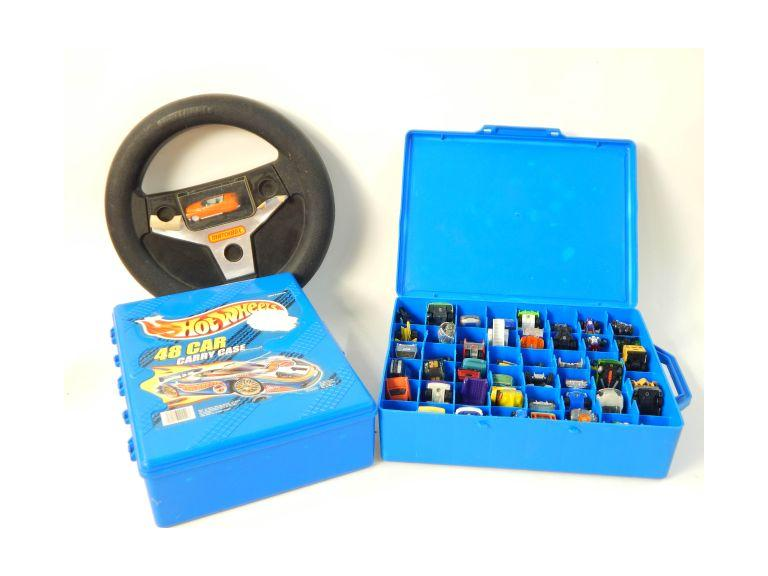 Matchbox and Hot heels Cases with Cars