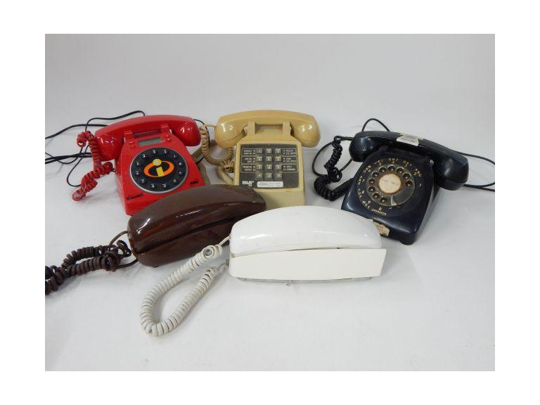 Collection of Old and Vintage Telephones