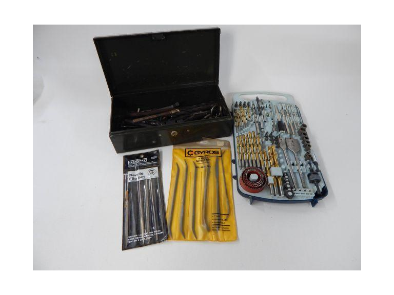 Collection of Drill Bits and Files