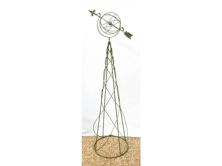 Tall Steel Framed Arrow Globe Weathervane
