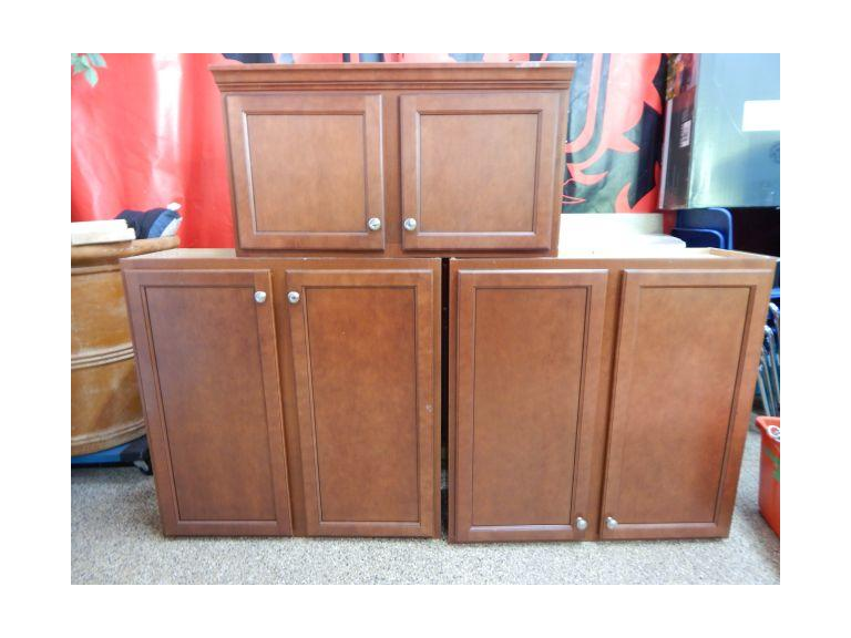 Route 8 Auctions | Set of Upper Kitchen Cabinets