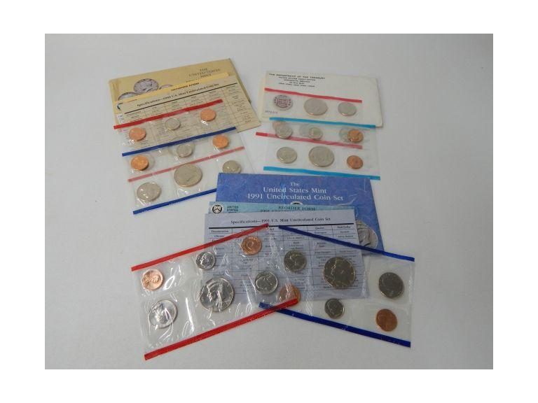 Collection of P & D Marked Uncirculated Coin Sets