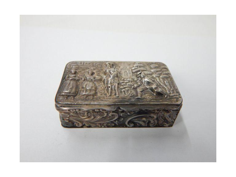 Antique Hallmarked Sterling Silver Snuff Box