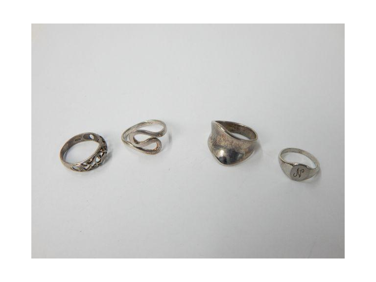 Collection f Sterling Silver Rings