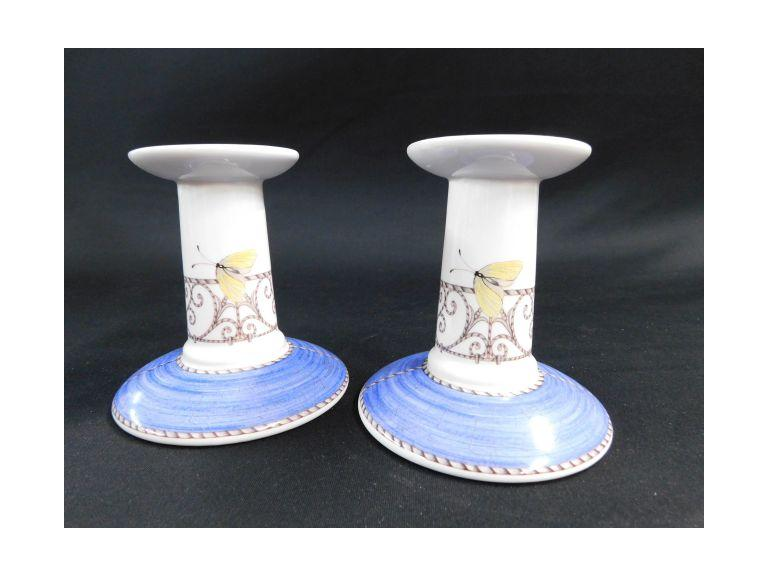 Wedgewood Porcelain Candlestick Holders