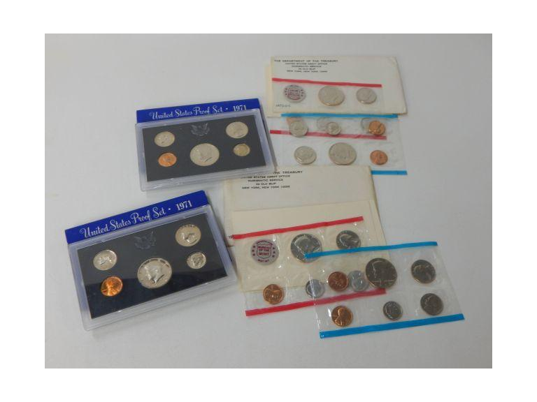 1971 and 1972 P & D Mark Mint Coin sets