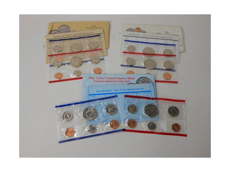 D & P Mint Mark Uncirculated Coin Sets