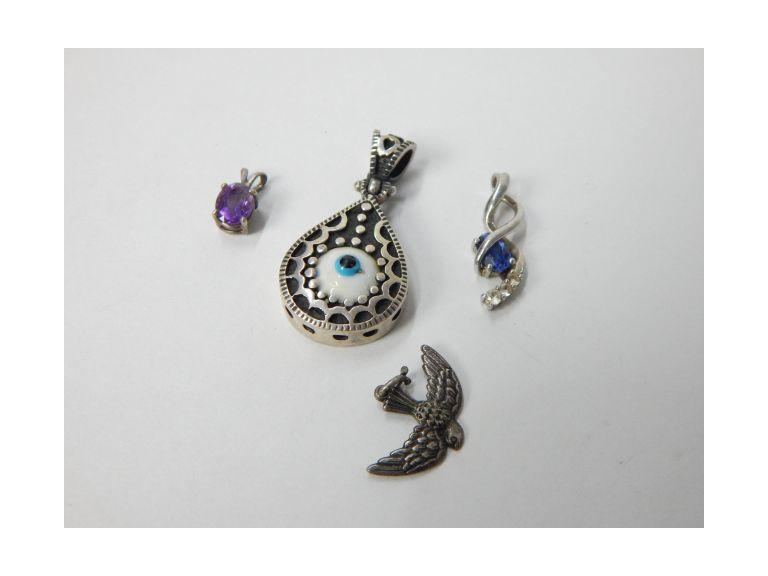 Collection of Sterling Necklace Pendants
