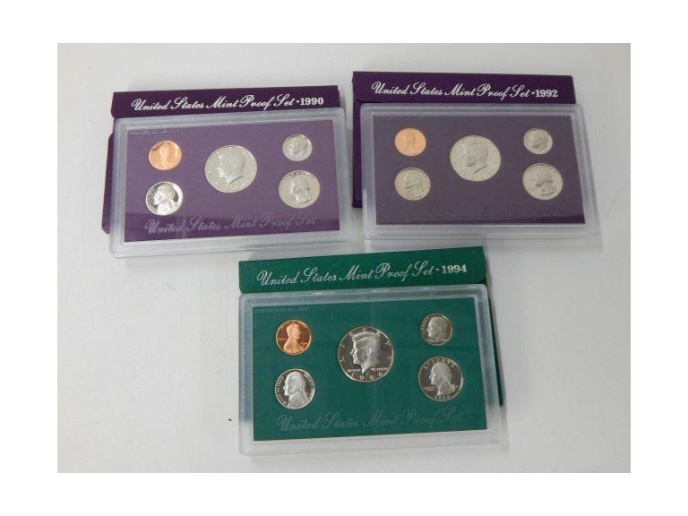 1990's Proof Coin Sets