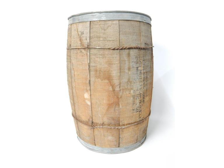 Old Wooden Hardware Barrel