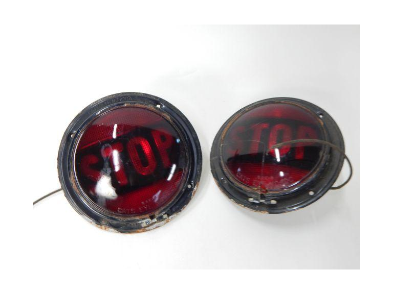 Pair of Vintage STOP Lights