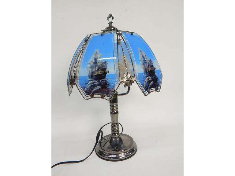 Touch Lamp with 2-Glass Shades