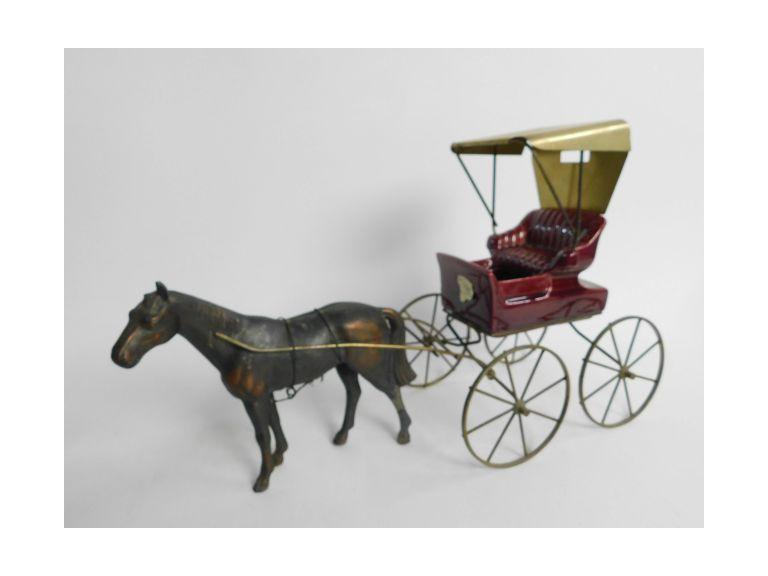 Poppy Trail Pottery Horse & Buggy Planter