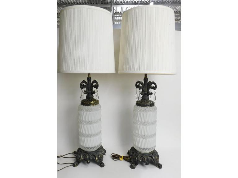 Tall Vintage Ornate Table Lamps