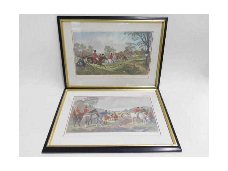 Framed and Matted J. Harris Fox Hunt Prints