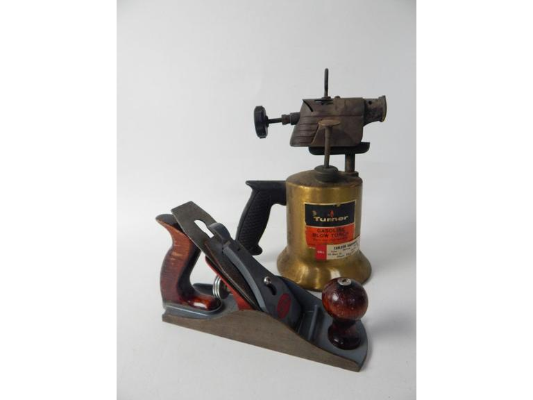 Old Wood Plane and Blow Torch