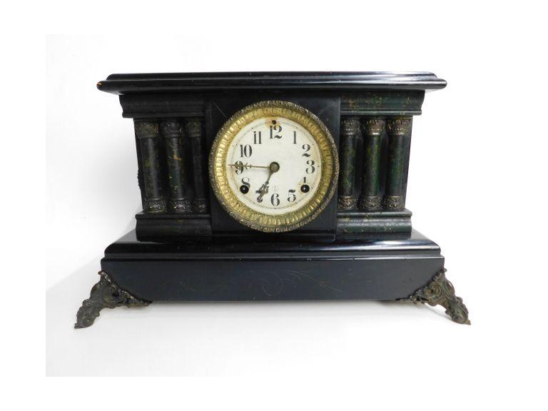 Antique  Key Wind Mantle Clock