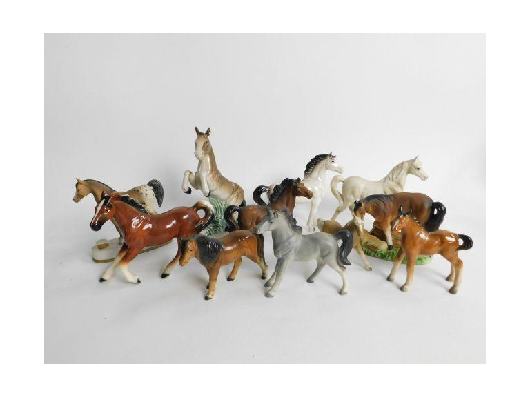 Collection of Ceramic Horse Figurines