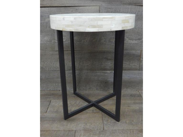 Decorative Metal Base Side Table