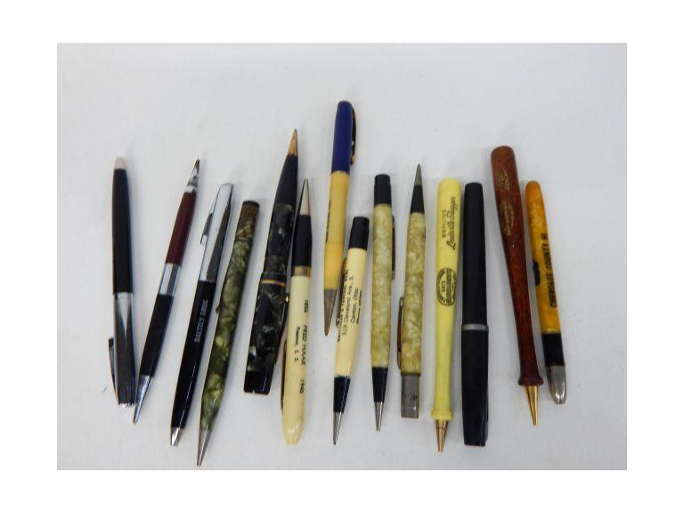 Collection of Vintage Pencils and Pens
