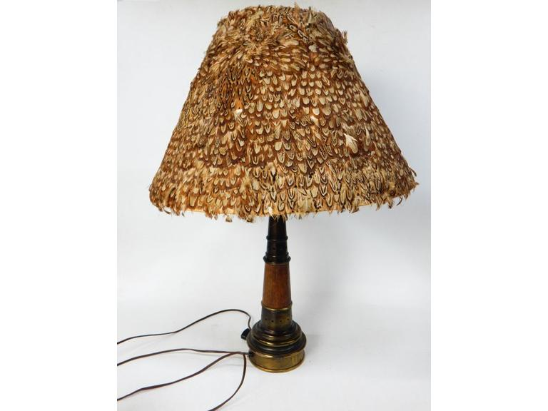 Pheasant Feather Shade Lamp