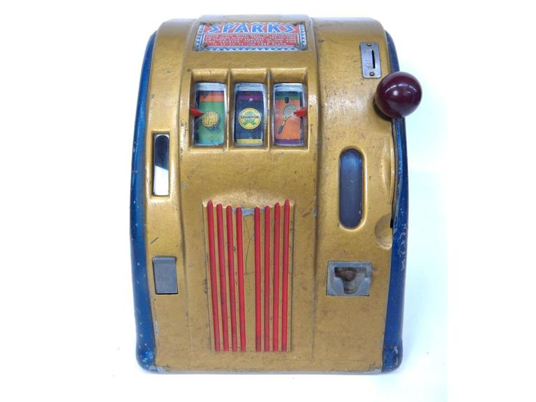 Rare Vintage Sparks Gumball Slot Machine