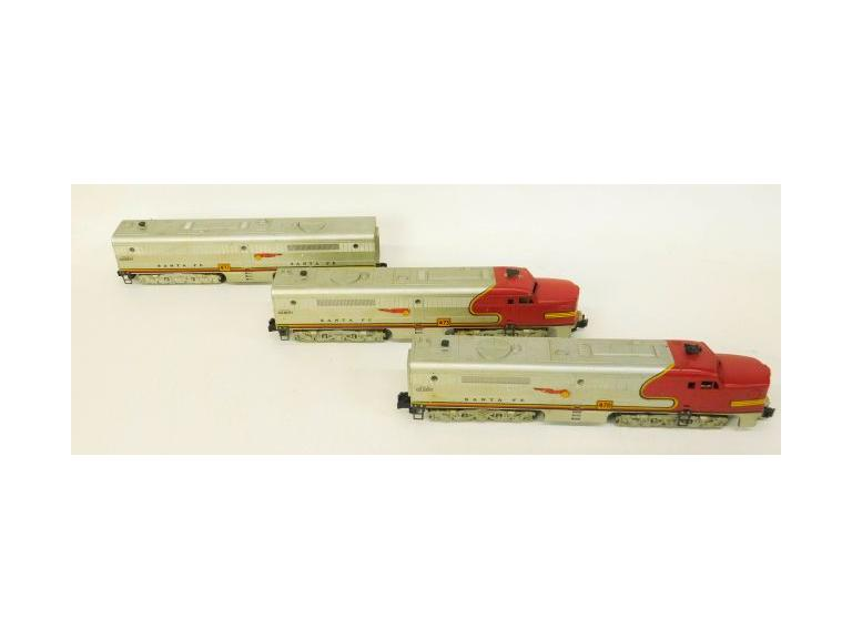 American Flyer Santa Fe Diesel Locomotive Engine Set