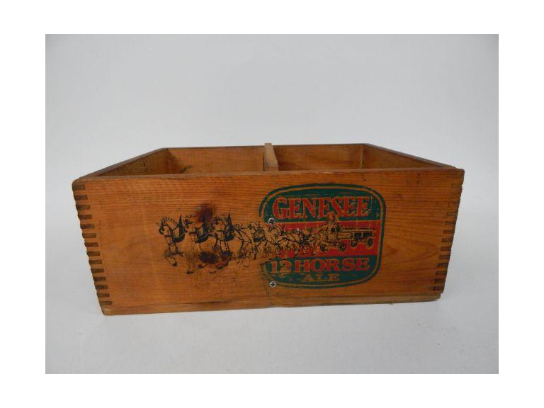 Genesee Beer Wooden Carrier