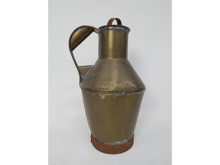 Primitive Hand Crafted Brass Pitcher