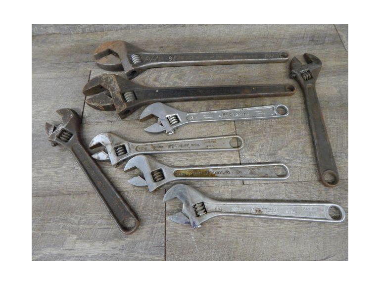 Collection of 18'' & 12'' Crescent Wrenches