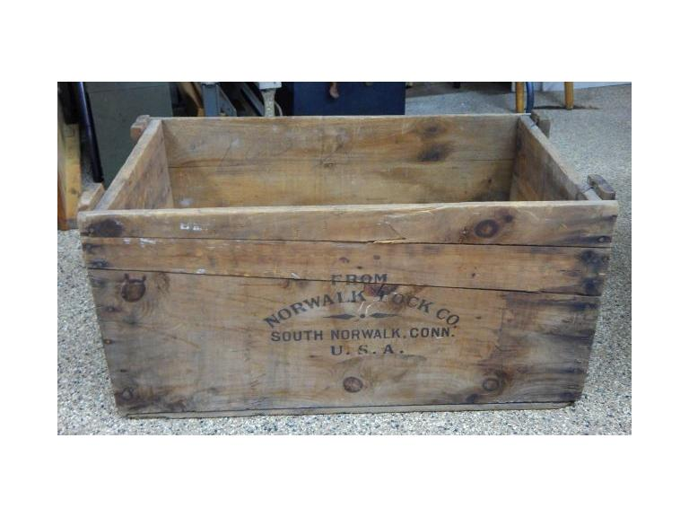 Norwalk Lock Co. Shipping Crate