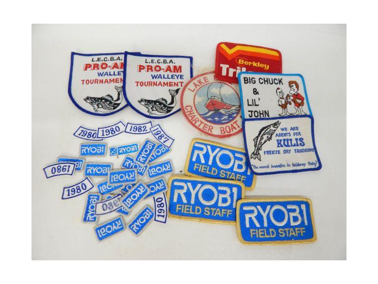 Collection of Old Fishing patches