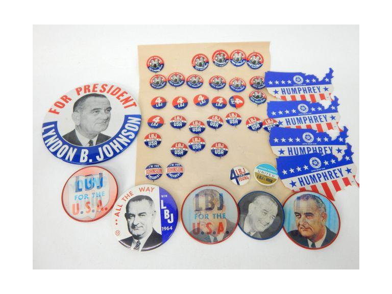 Collection of LBJ Political Buttons