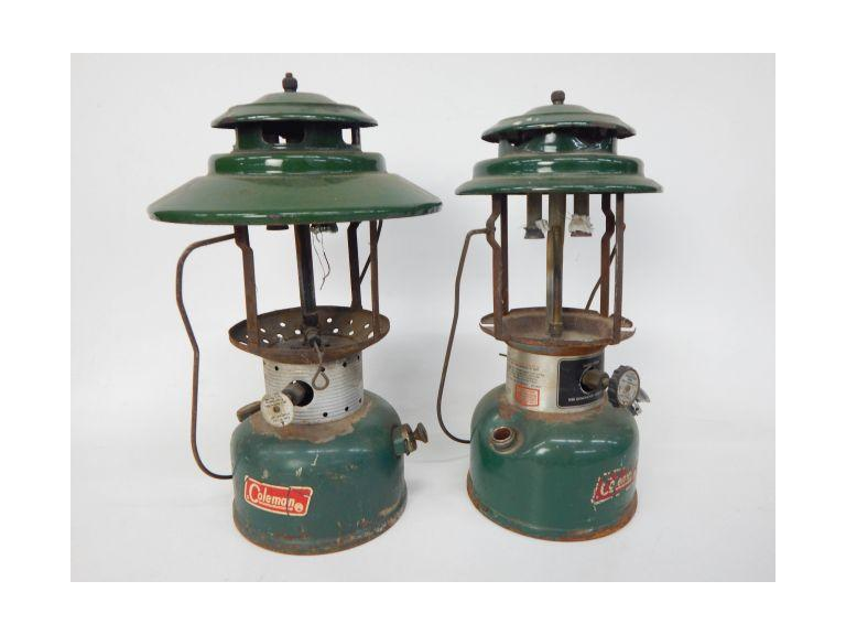 Pair of Old Coleman Camping lanterns