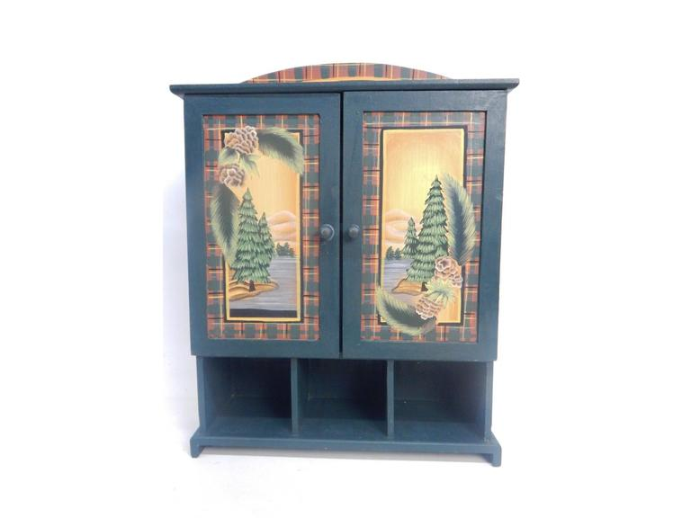 Decorative Wooden Wall/Tabletop Cabinet