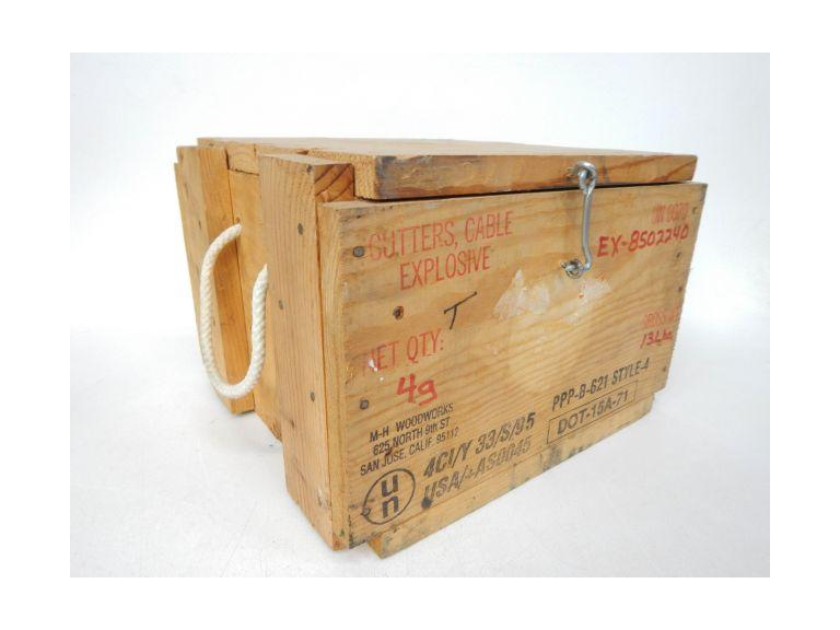 Old Wooden Cable Explosive Shipping Crate