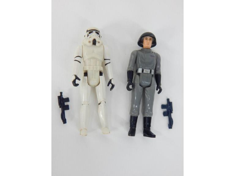 Star Wars 1977 Storm Trooper & Imperial Commander Figures