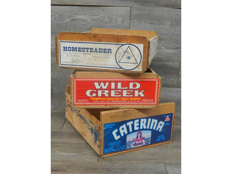 Collection of Old Fruit Crates