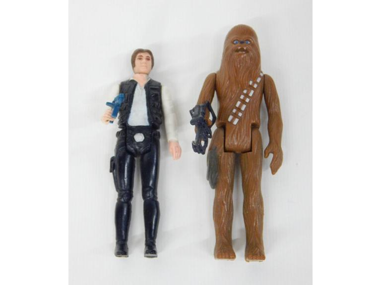 Star Wars 1977 Han Solo & Chewbacca Figures