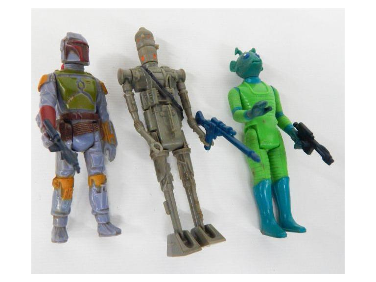 1978 and 1980 Star Wars Bounty Hunters with Boba Fett