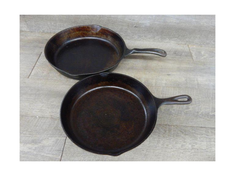 Pair of Large Cast iron Skillets