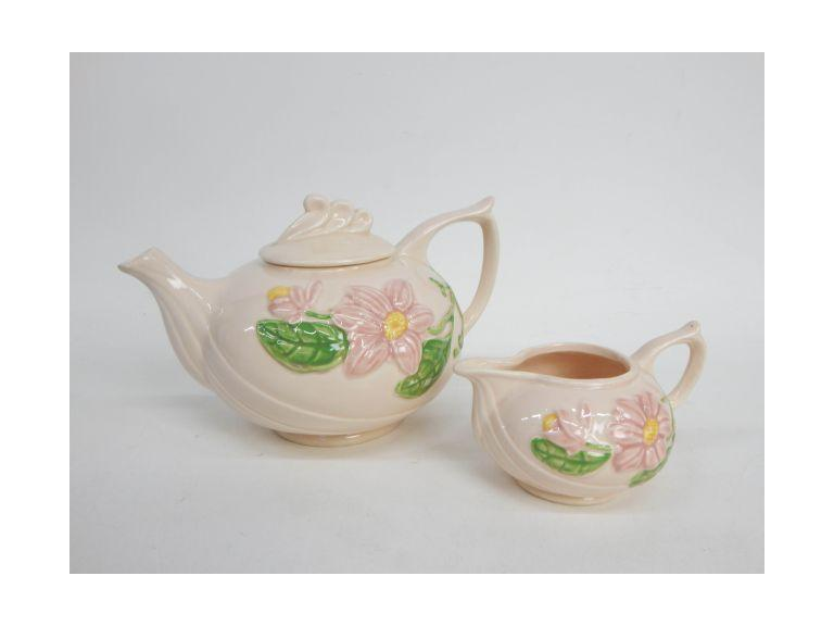 Hull Pottery Teapot and Creamer
