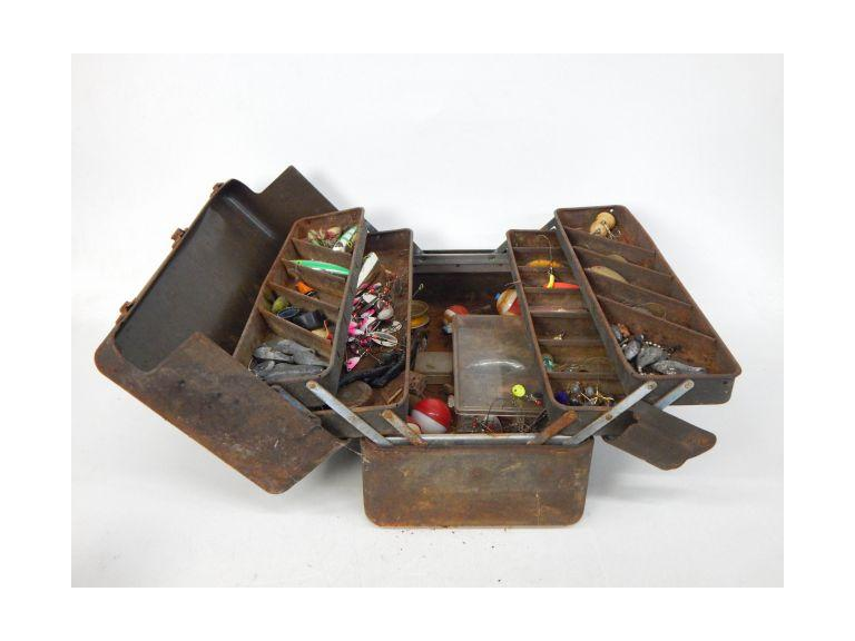 Old Metal Tacklebox of Tackle