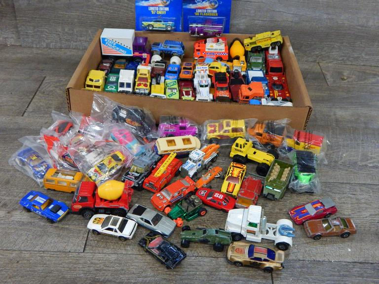 Large Collection of Toy Cars and Trucks