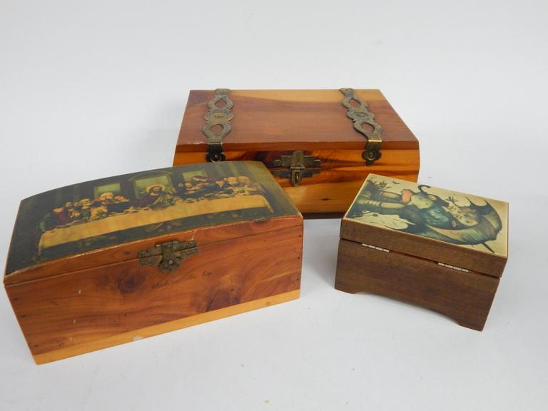 Collection of Decorative Wooden Boxes