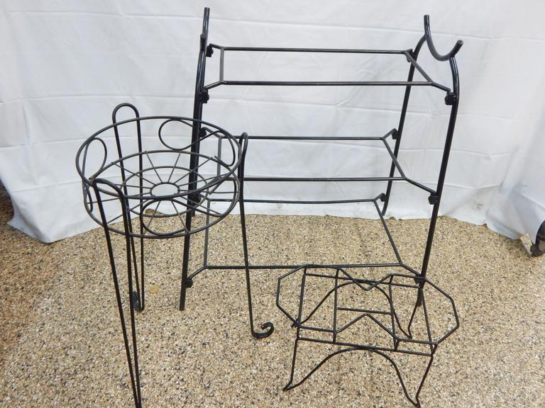 Collection of Metal Framed Stands