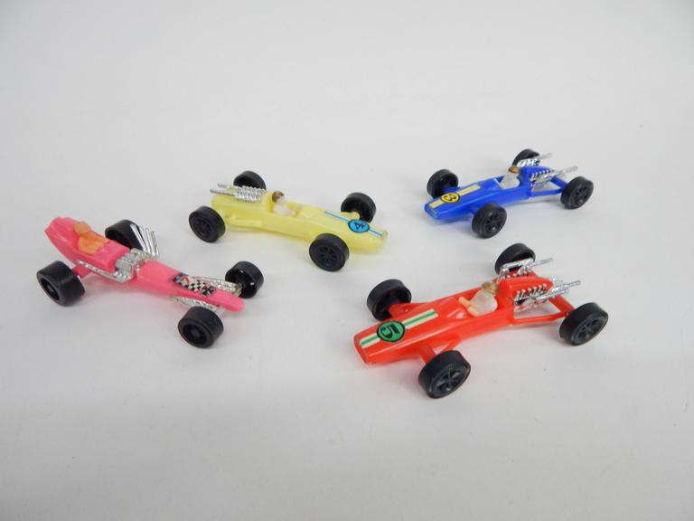 Collection of Old Plastic Toy Race  Cars